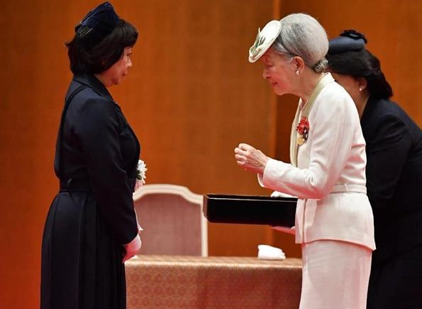 Empress Michiko, Crown Princess Masako, Princess Kiko and Princess Nobuko Asaka attended the Florence Nightingale medal award ceremony