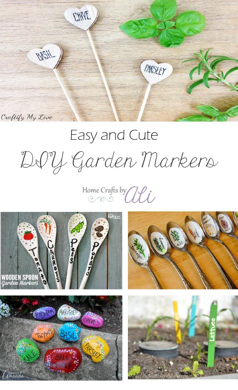 cute and easy garden plant marker tutorials