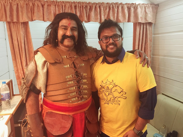Gautamiputra satakarni on the sets Stills