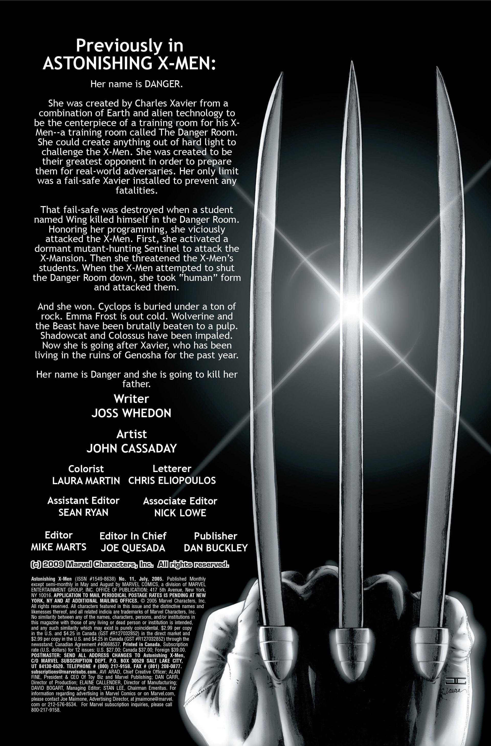 Read online Astonishing X-Men (2004) comic -  Issue #11 - 2