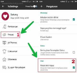 Setting Pesan Anti hapus Whatsapp