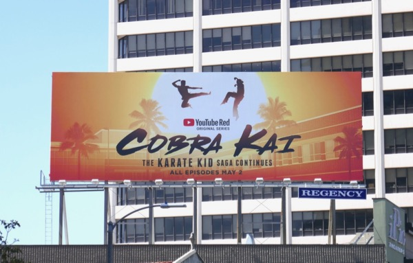 Cobra Kai YouTube series billboard