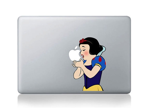 Snow White Mac Decal Sticker
