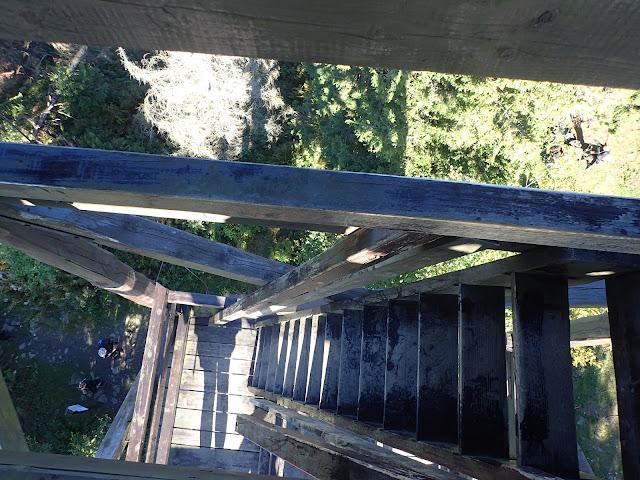 Na najwyższy punkt w Beskidzie Wyspowym wchodzi się drewnianymi schodami