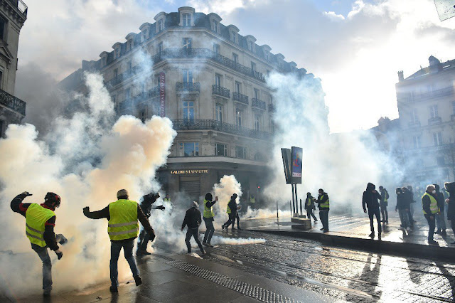 Protestas, manifestación, francia, Gilletjeune