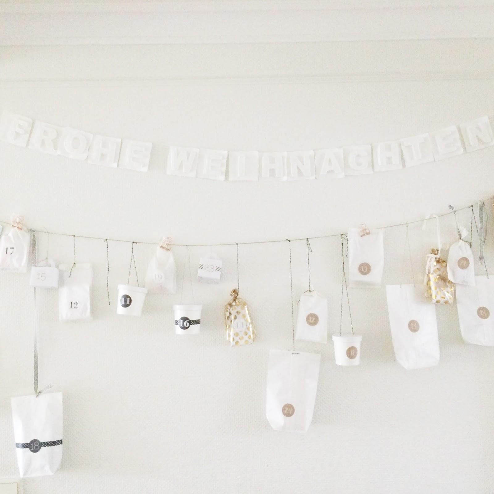 advent calendar white for twins