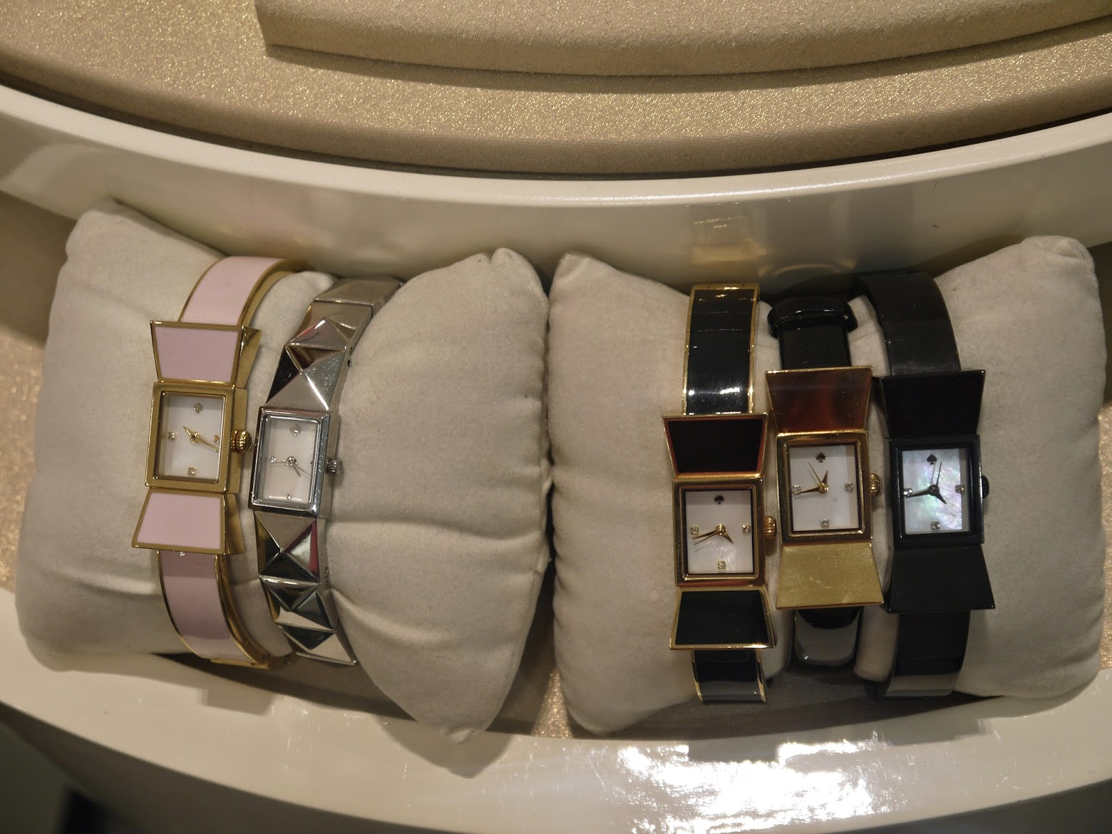 Bow Shape Watches on Display at the Kate Spade Event