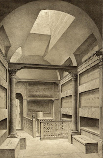 A plate from De Rossi's book shows a reconstruction of the Crypt of the Popes