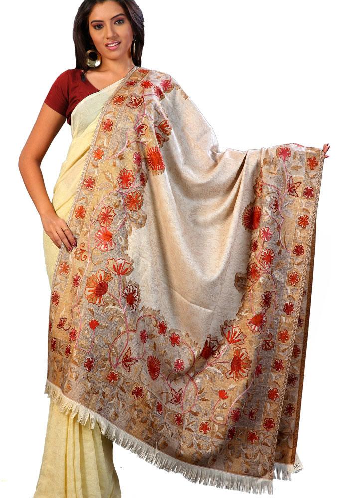 Indian Fashions & Styles Indian Shawl Stole Wool Fabric Wrap Clothing Cashmere Pashmina Shawl