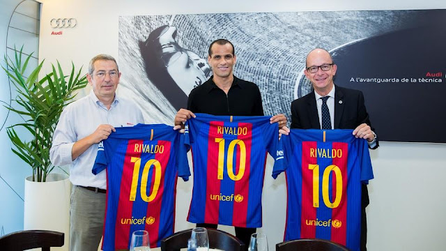 Rivaldo ficha por el FC Barcelona Legends