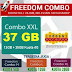 Inject Freedom Combo XXL (12GB+25GB) cuma 128000