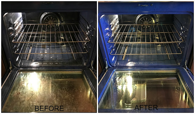 Oven before and after photos