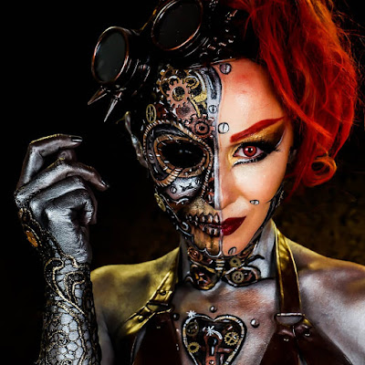 steampunk makeup how to DIY special fx body paint face paint