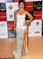 Tanishaa Mukerji in Leg Split Designer Gown Walk the Red Carpet of Zee Awards 2017i ~  Exclusive Galleries 005.jpg