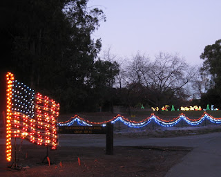 Fantasy of Lights, American flag display