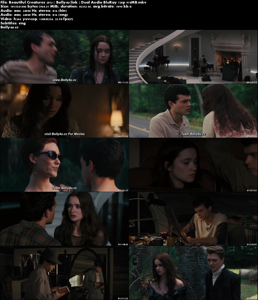 Beautiful Creatures 2013 BluRay 950MB Hindi Dual Audio 720p Download