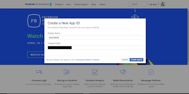 How to Create Facebook app for website