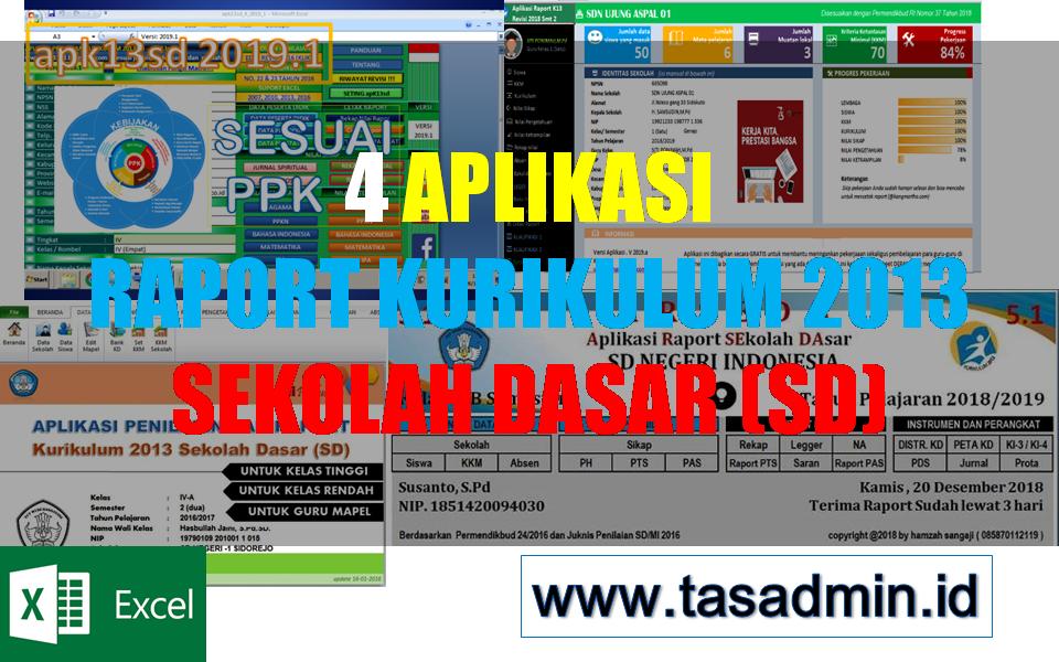 4 Aplikasi Raport K13 Sd Tahun 2019 Format Excel Tasadmin