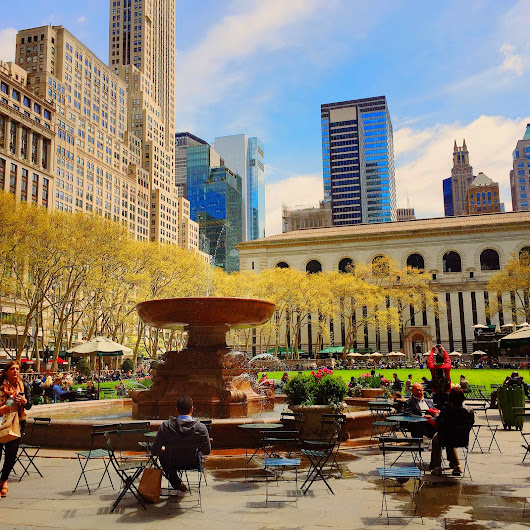 A Nice Friday Noon at Bryant Park, NYC