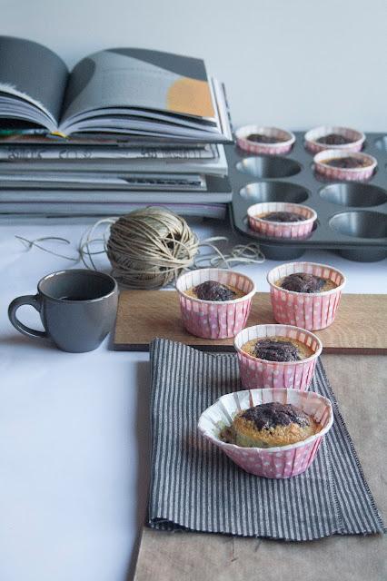 La ricetta dei muffin bicolore
