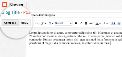 blogger post compose html