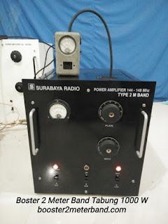 Boster VHF 2 Meter Band Tabung 1000 W Lengkap dengan Power Supply Tinggal Colok Listrik