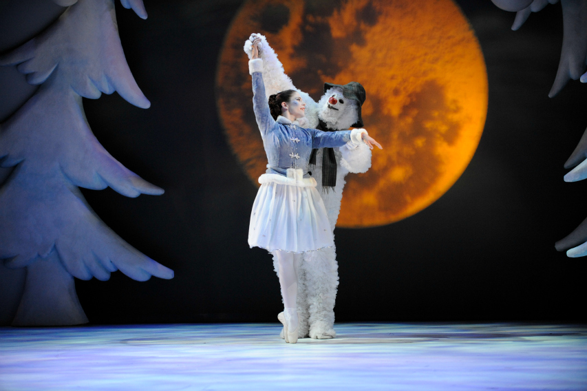 The Snowman and the Ice Princess dance at The Snowman