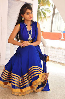 Actress Harisha Krishna Stills in Beautiful Blue Chudiddar  0045.jpg