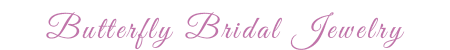 Crystal Butterfly Bridal Jewelry by Crystal Allure Creations