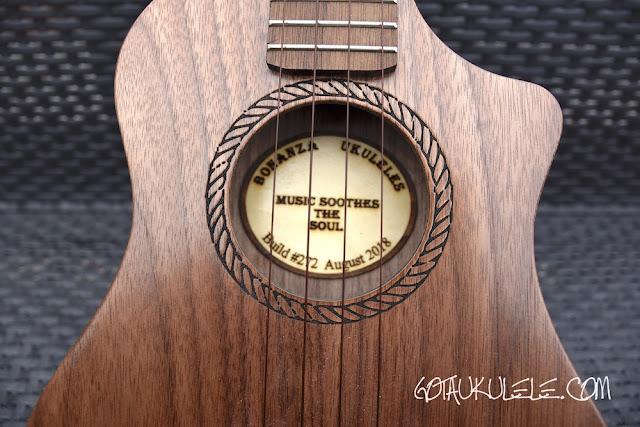 Bonanza Oreo Tenor Ukulele sound hole