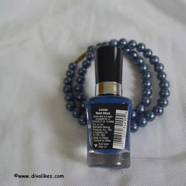 Wet n Wild Megalast Nail Polish Violet Attack Review
