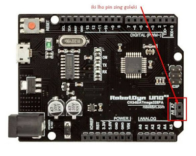 arduino uno dengan 8 pin analog
