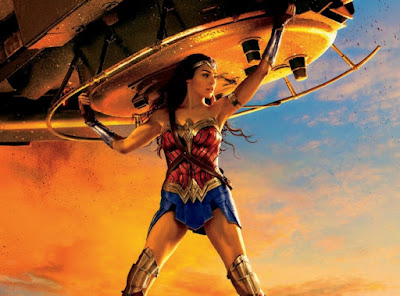 wonder woman film amazons: old poster lady libert is like voice of women divine feminine countering rampant male energies like donald trump and staff