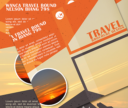 Photoshop Tutorial Trifold Travel Brochure Design
