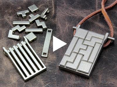 Tetrominoes Puzzle Pendant