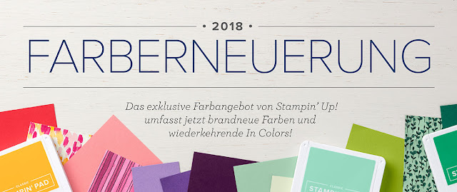 Stampin Up neue Farben Farbernuerung Farbauffrischung neu Farbfamilien In Color