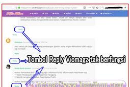 Cara mengatasi tombol reply tak berfungsi pada viomagz