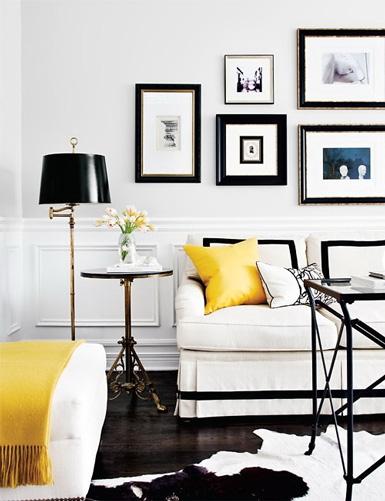 ein wohnzimmer in schwarz wei christine oertel interior design. Black Bedroom Furniture Sets. Home Design Ideas