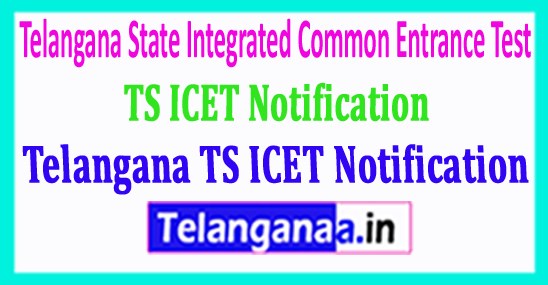 Telangana TS ICET Notification Download 2018