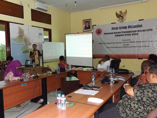 BPBD Sorsel dan PSBA UGM Yogyakarta Susun RIPB