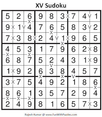 XV Sudoku (Fun With Sudoku #138) Solution