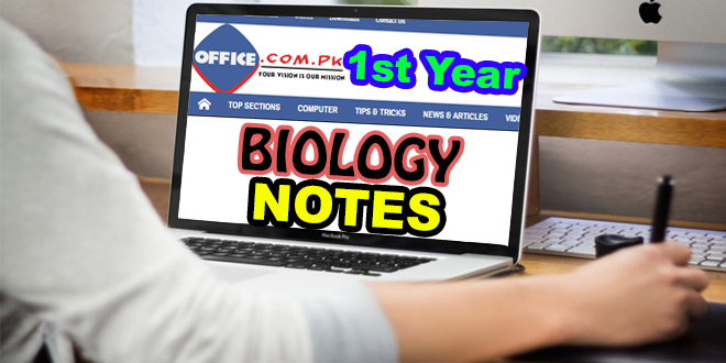 Download F.Sc Premedical – I Biology Notes (New Course) for Class XI – First Year
