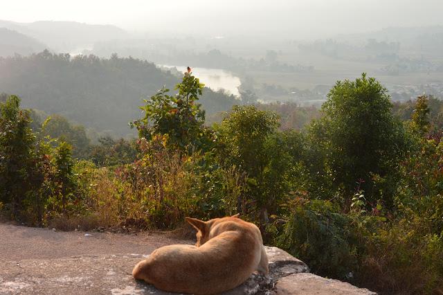 Coucher de soleil dans la vallée Shan