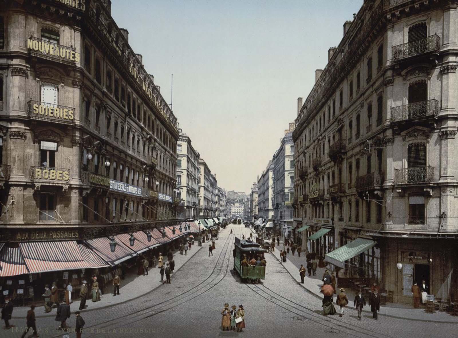Rue de la Republic, Lyon.
