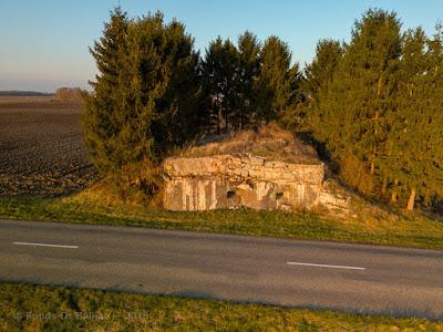 Ligne Maginot en Alsace — Casemate 38/3 Baltzenheim (vue aérienne)