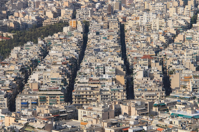 Ateenan talot Likavitos/Lycabettus -kukkulalta katsottuna