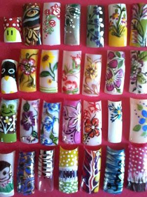 Decoraciones de uñas juveniles bonitas