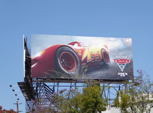 Lightning McQueen Cars 3 movie billboard