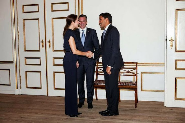 Crown Princess Mary received the Administrator of USAID, Dr. Rajiv Shah