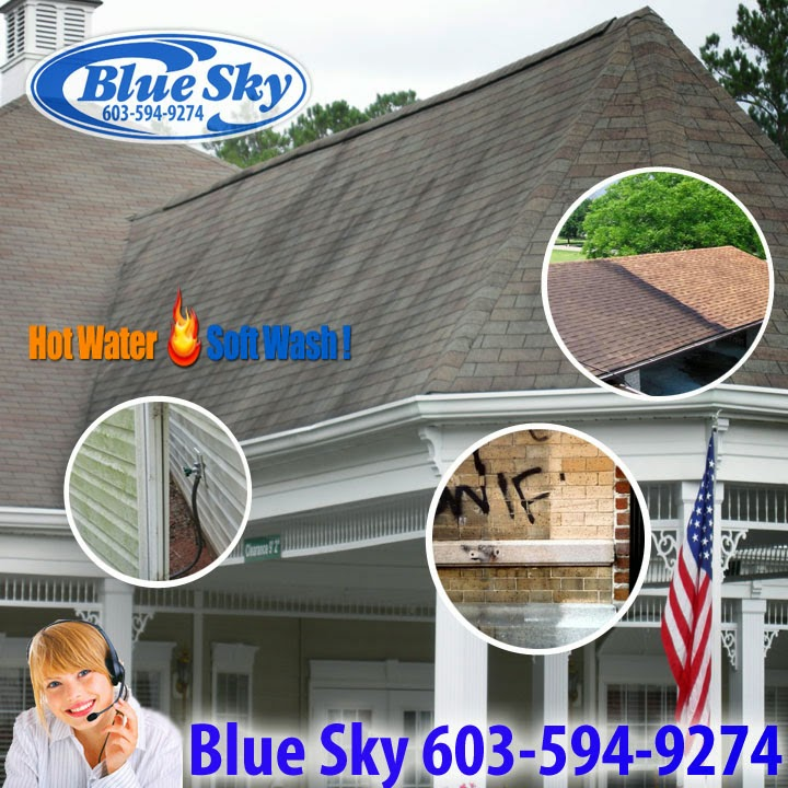Clean Gutters with Blue Sky Power Washing